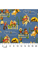 Christmas Collection Christmas Time, Giddy-Up Santa in Blue, Dinner Napkin