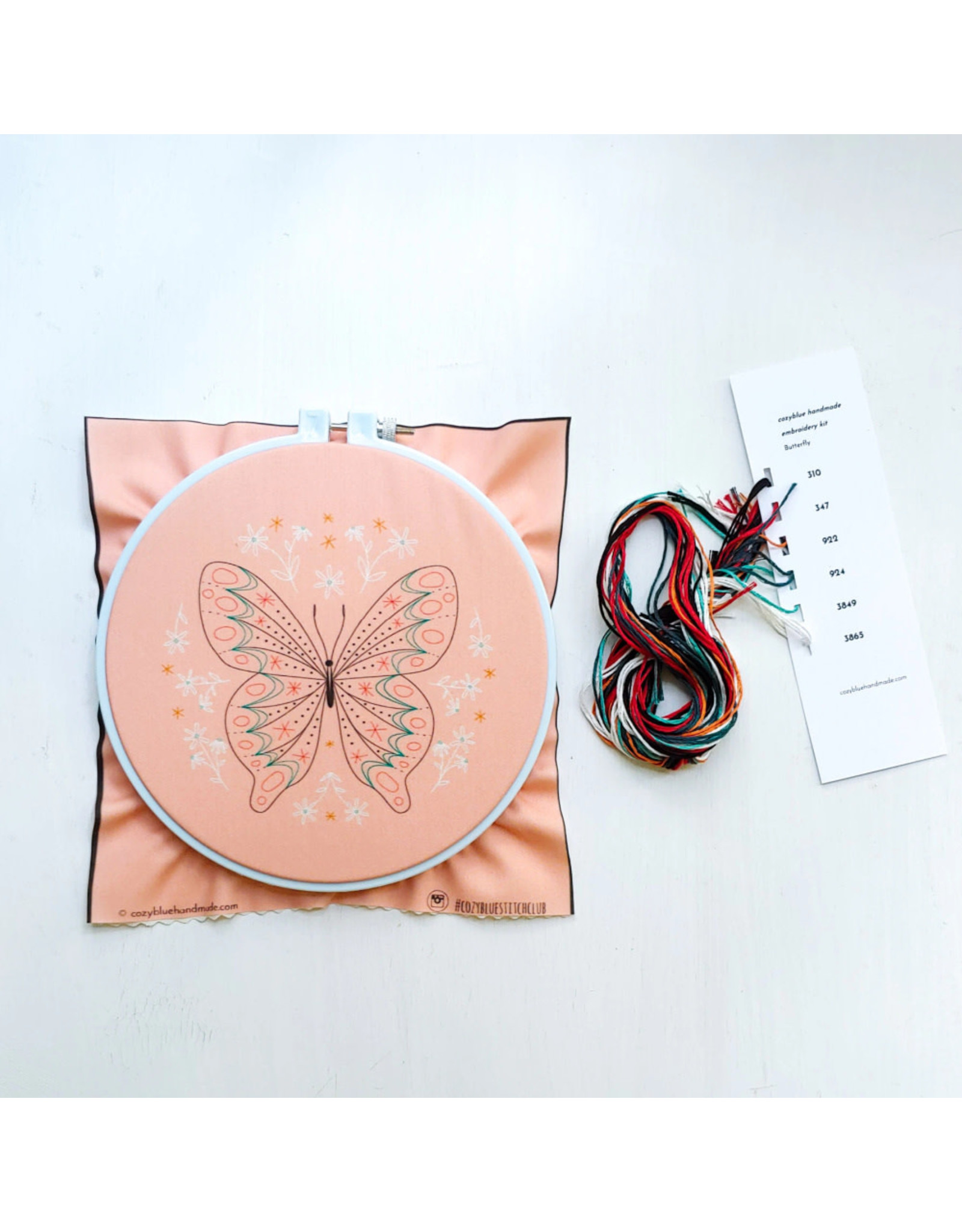 cozyblue Butterfly Embroidery Kit from cozyblue
