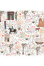 Figo Wild West, Town in Multi, Fabric Half-Yards