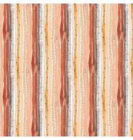 Figo Wild West, Stripes in Multi, Fabric Half-Yards