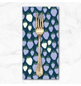 PD's Cotton + Steel Collection Under the Apple Tree, Queen of Berries in California Blue, Dinner Napkin