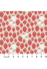 PD's Cotton + Steel Collection Under the Apple Tree, Queen of Berries in Summer Red, Dinner Napkin
