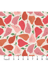 PD's Cotton + Steel Collection Under the Apple Tree, Quince in Red, Dinner Napkin