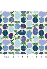 PD's Cotton + Steel Collection Under the Apple Tree, Orchard in Azure, Dinner Napkin