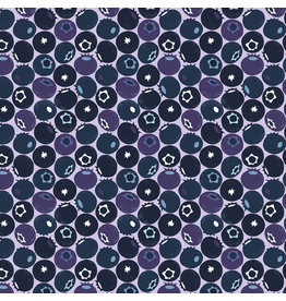 Cotton + Steel Under the Apple Tree, Blueberry in Blue, Fabric Half-Yards