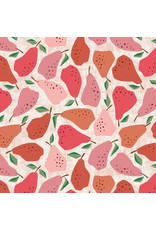 Cotton + Steel Under the Apple Tree, Quince in Red, Fabric Half-Yards