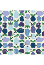 Cotton + Steel Under the Apple Tree, Orchard in Azure, Fabric Half-Yards