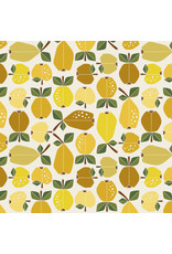 Cotton + Steel Under the Apple Tree, Orchard in Golden, Fabric Half-Yards