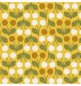 Cotton + Steel Under the Apple Tree, Cherry in Rainier, Fabric Half-Yards