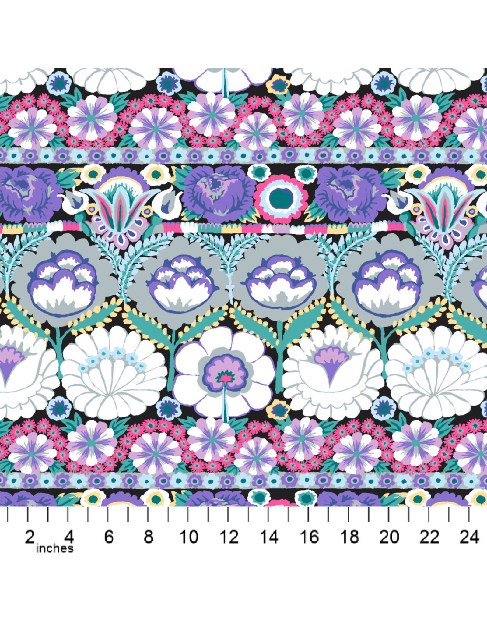 PD's Kaffe Fassett Collection Kaffe Collective 2021, Embroidered Flower in Contrast, Dinner Napkin