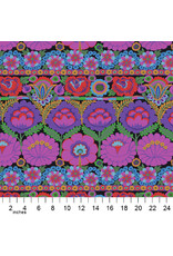 PD's Kaffe Fassett Collection Kaffe Collective 2021, Embroidered Flower in Purple, Dinner Napkin