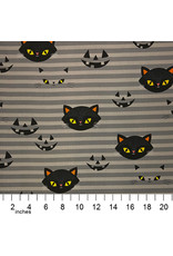 PD's Alexander Henry Collection Haunted House, Hide-N-Go Kitty in Smoke, Dinner Napkin