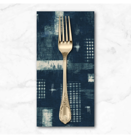 PD's Windham Collection Midnight, Woven Ikat in Indigo, Dinner Napkin