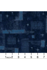 PD's Windham Collection Midnight, Woven Ikat in Overdyed, Dinner Napkin