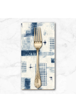 PD's Windham Collection Midnight, Woven Ikat in Ivory, Dinner Napkin