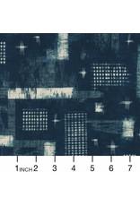 Windham Fabrics Midnight, Woven Ikat in Indigo, Fabric Half-Yards