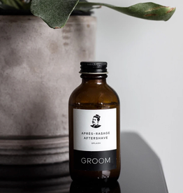 New Groom Aftershave Splash - Vetiver, Lime Peel + Juniper