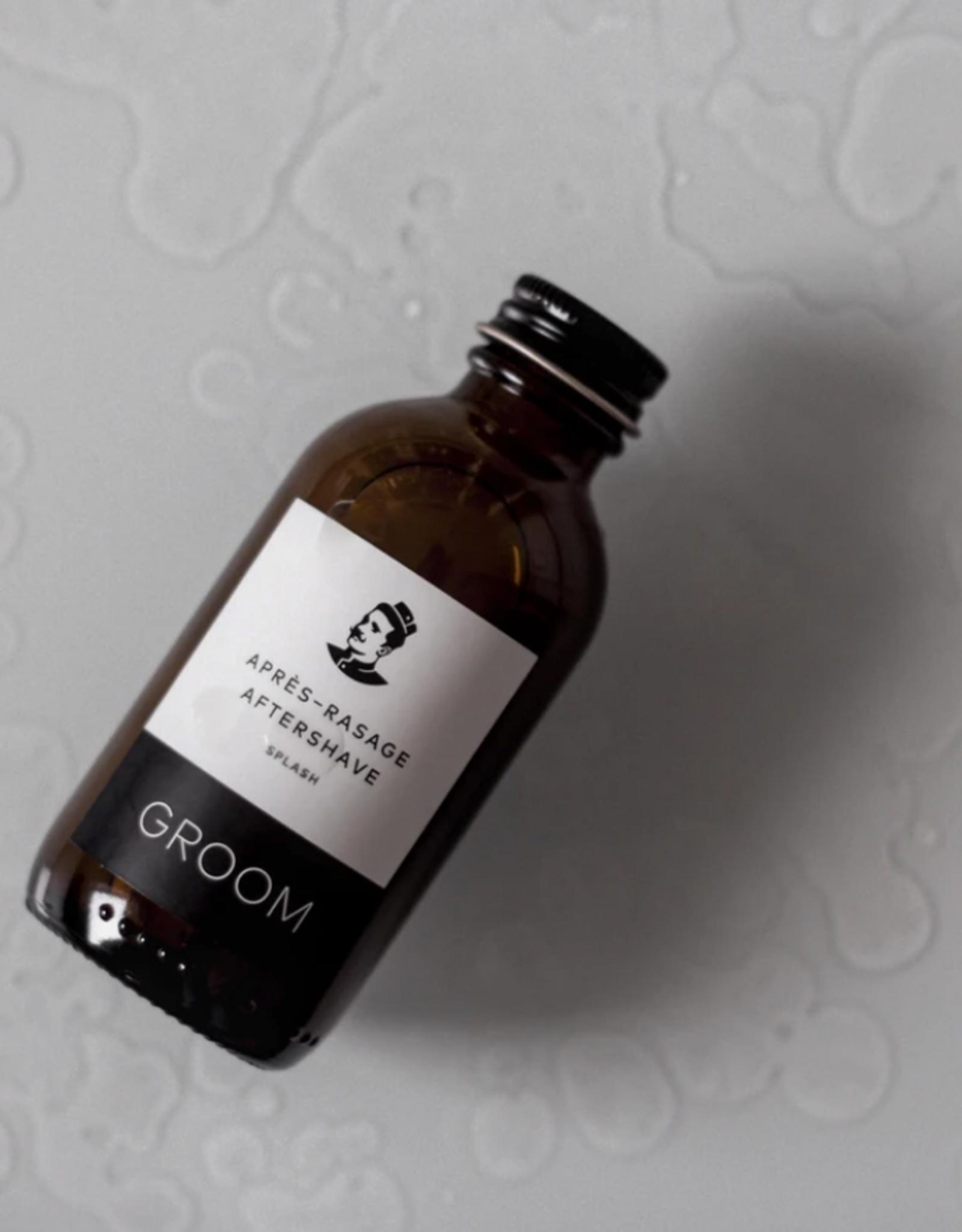 New Groom Aftershave Splash - Vetiver, Lime Peel + Juniper