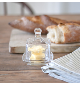Square Glass Butter Dish
