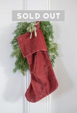 New Velvet Stocking - Red