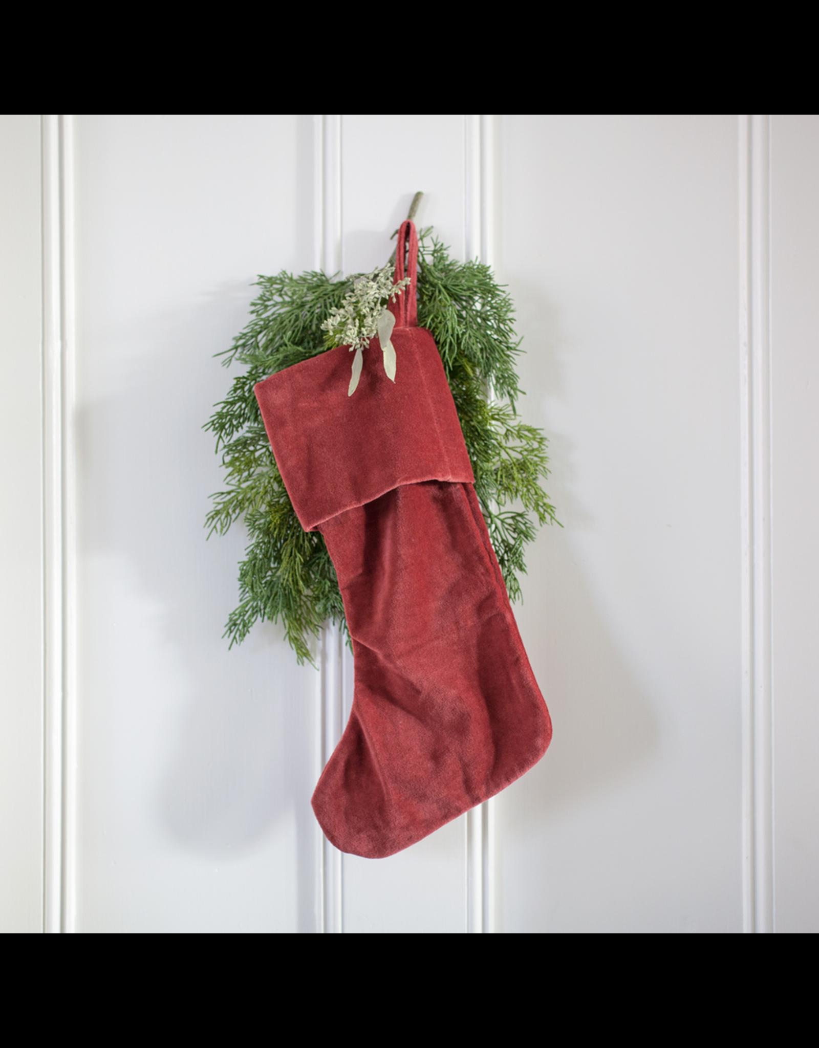 Velvet Stocking - Red