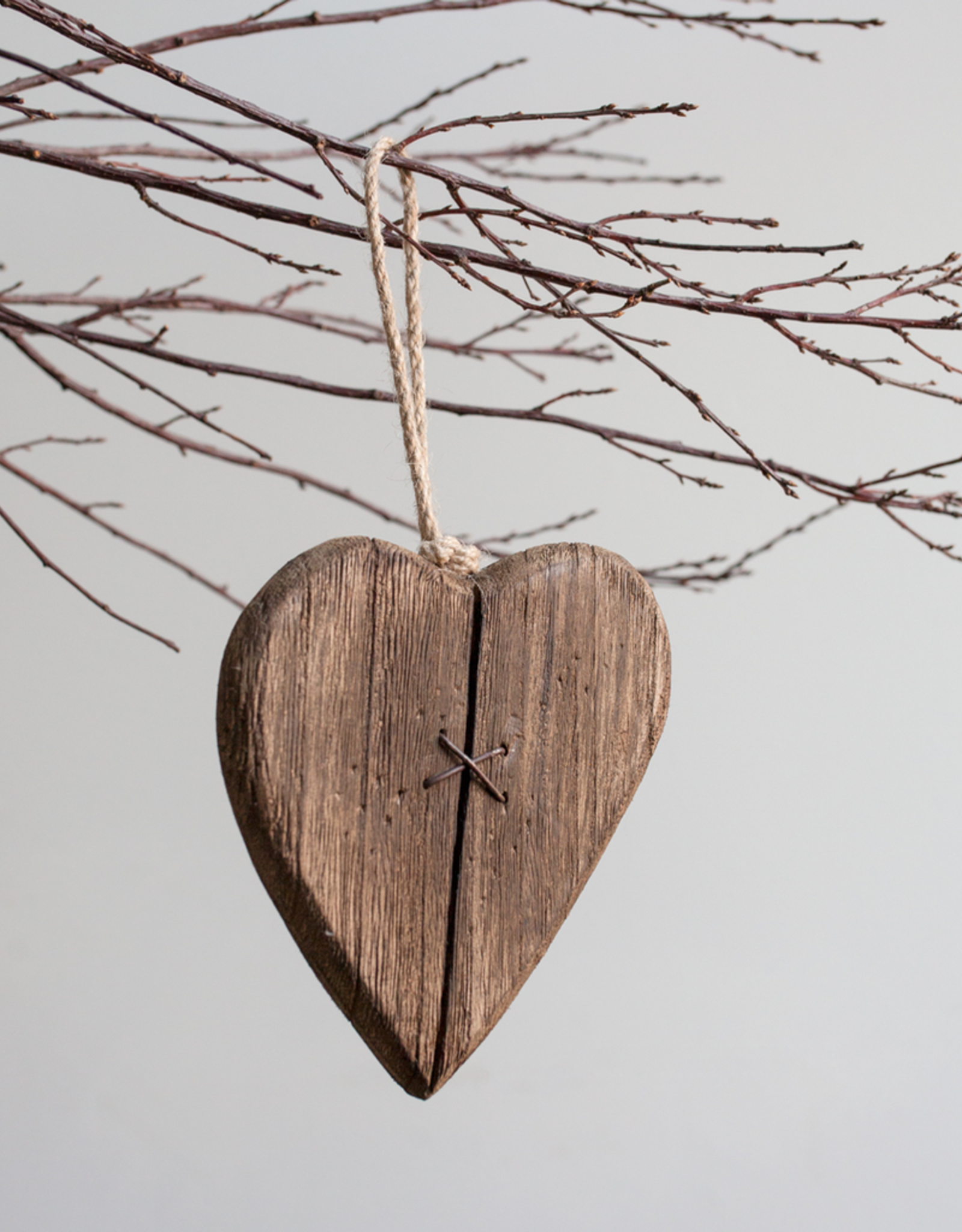 New Mended Wood Heart