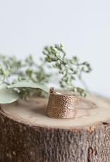 Handmade Cast Sage Leaf Ring - Bronze