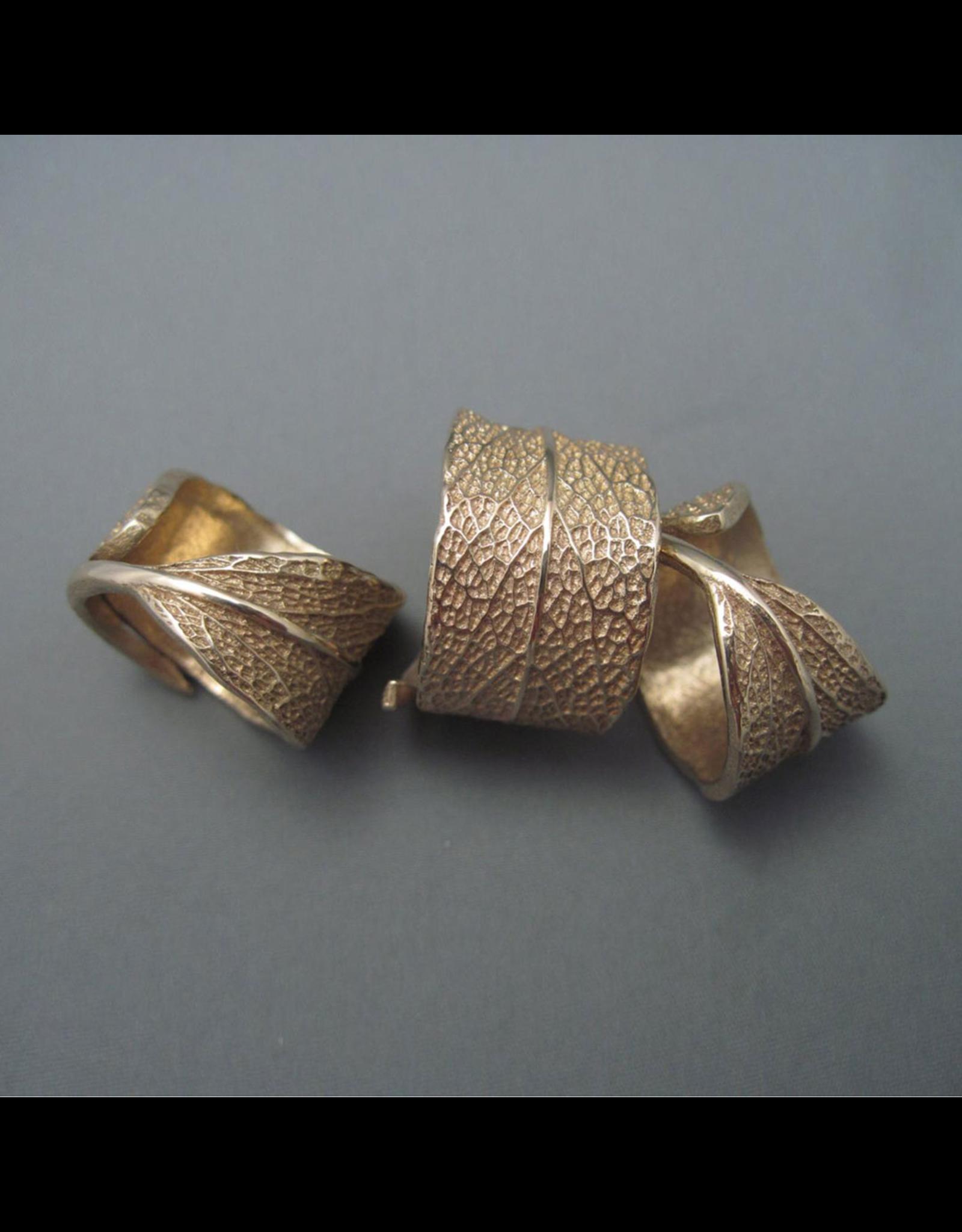 Cast Sage Leaf Ring - Bronze