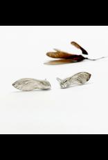 Maple Key Stud Earrings - Sterling Silver