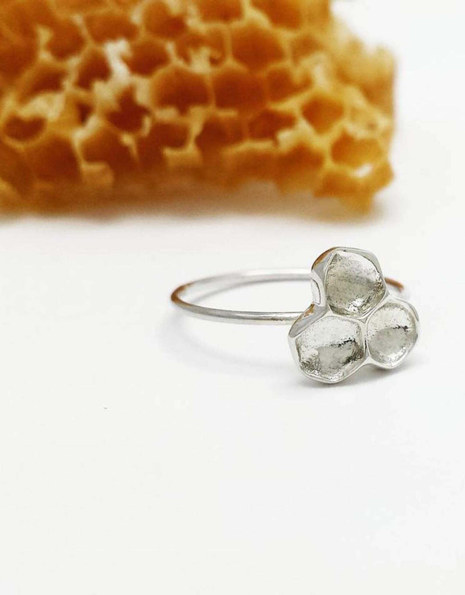 Handmade Honeycomb Ring - Sterling Silver