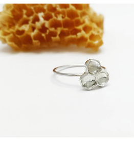 Cast Honeycomb Ring - Sterling Silver