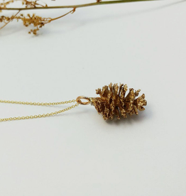 Handmade Alder Cone Pendant - Bronze