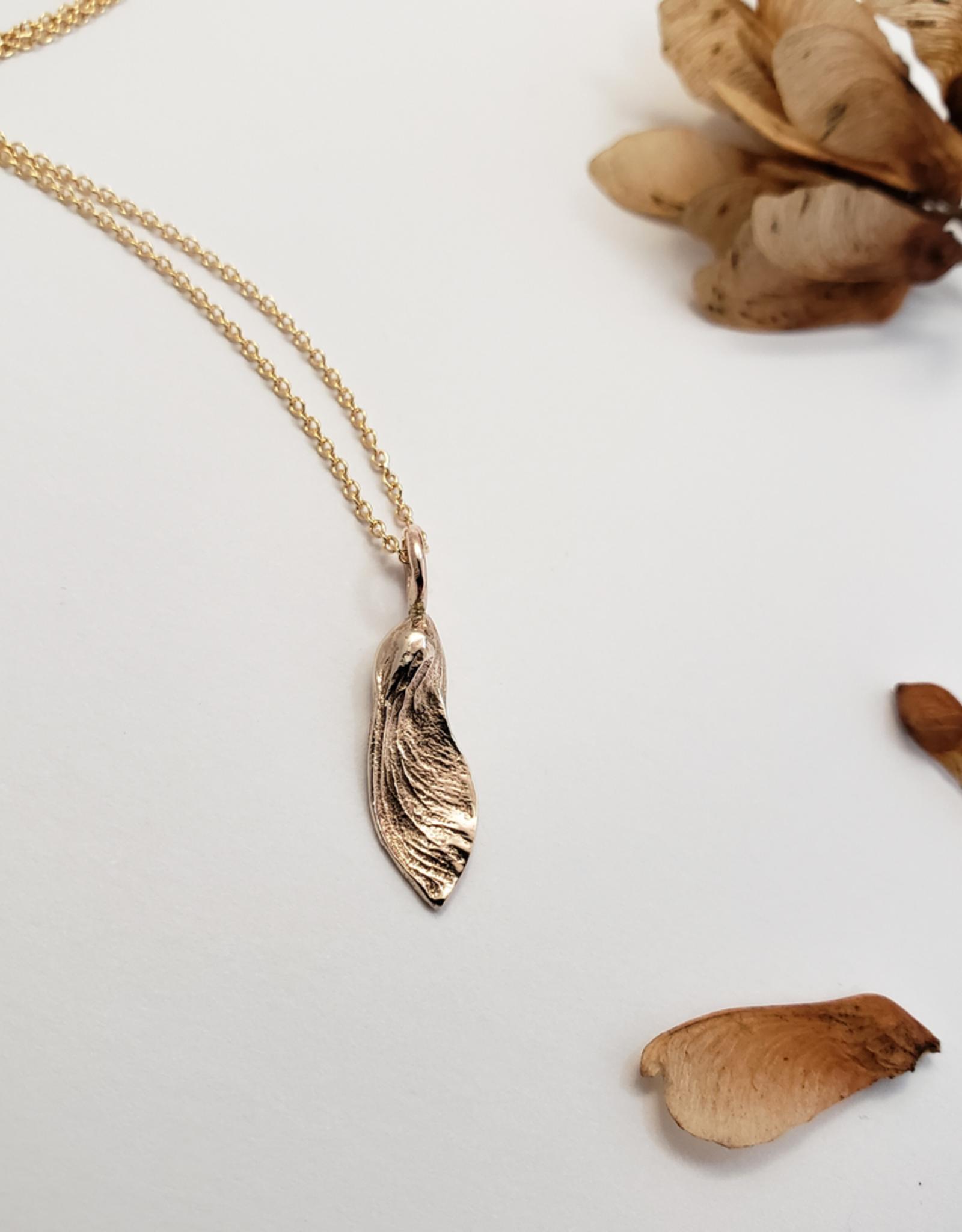 Handmade Maple Key Pendant - Bronze