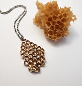 Handmade Beehive Pendant - Bronze