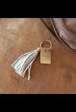 Leather Tassel Keychain - Pause
