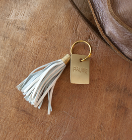 New Leather Tassel Keychain - Pause