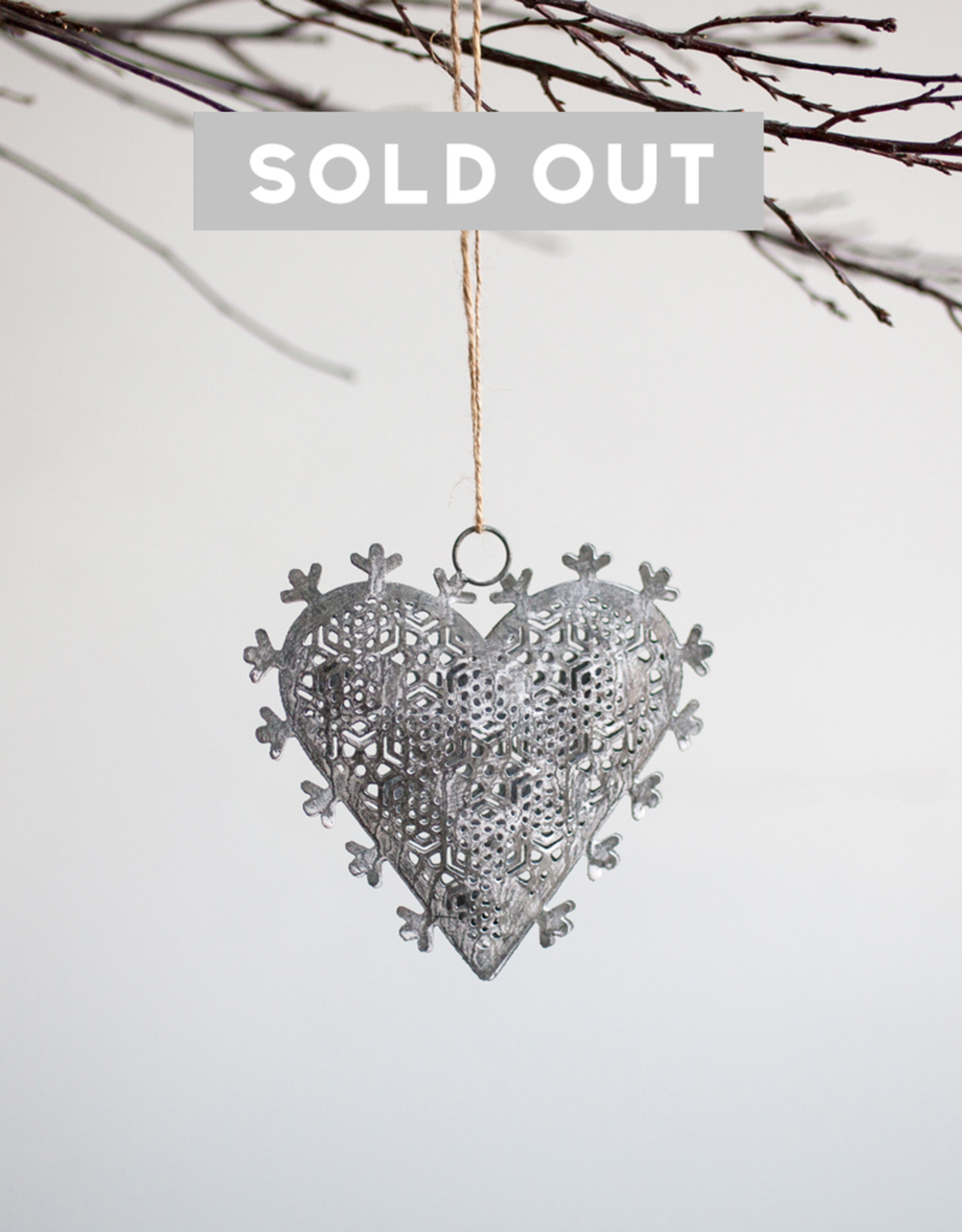 New Heart Snowflake Ornament