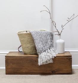New Cotton Tassle Throw - Dotty