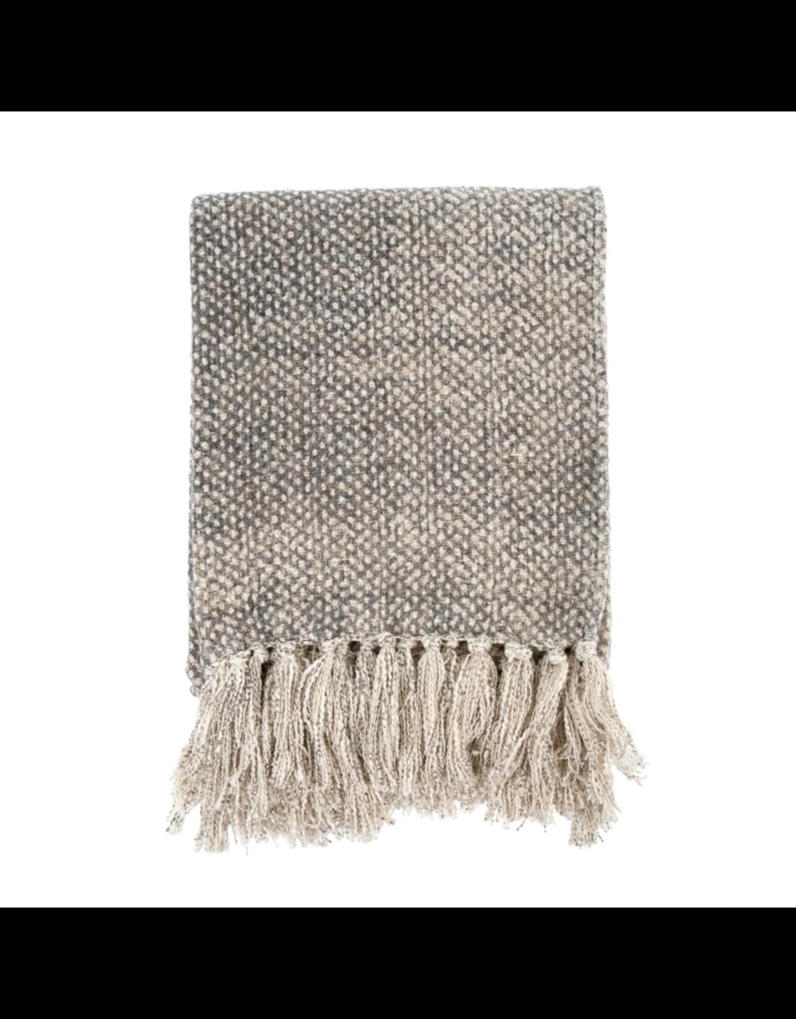 Cotton Tassle Throw - Dotty