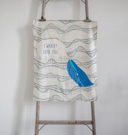 New Whale Tea Towel