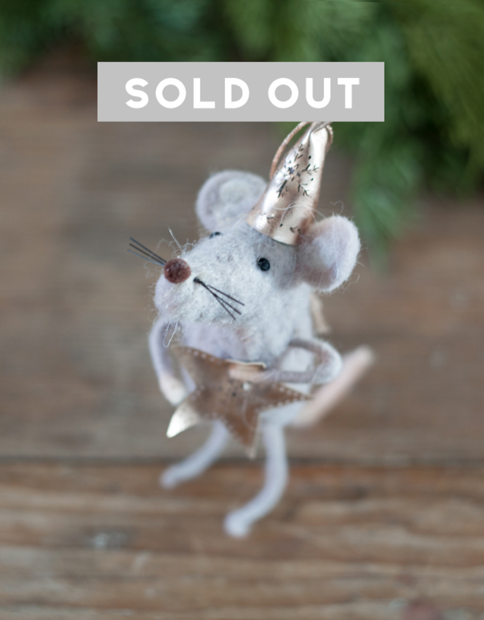 New Felted Wool Party Mouse