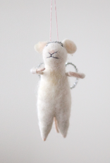 New Felted Mouse Angel Ornament