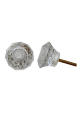 Faceted Glass Knob – Clear