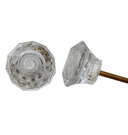 New Faceted Glass Knob – Clear
