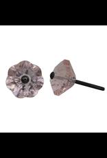 Glass Flower Knob – Pink