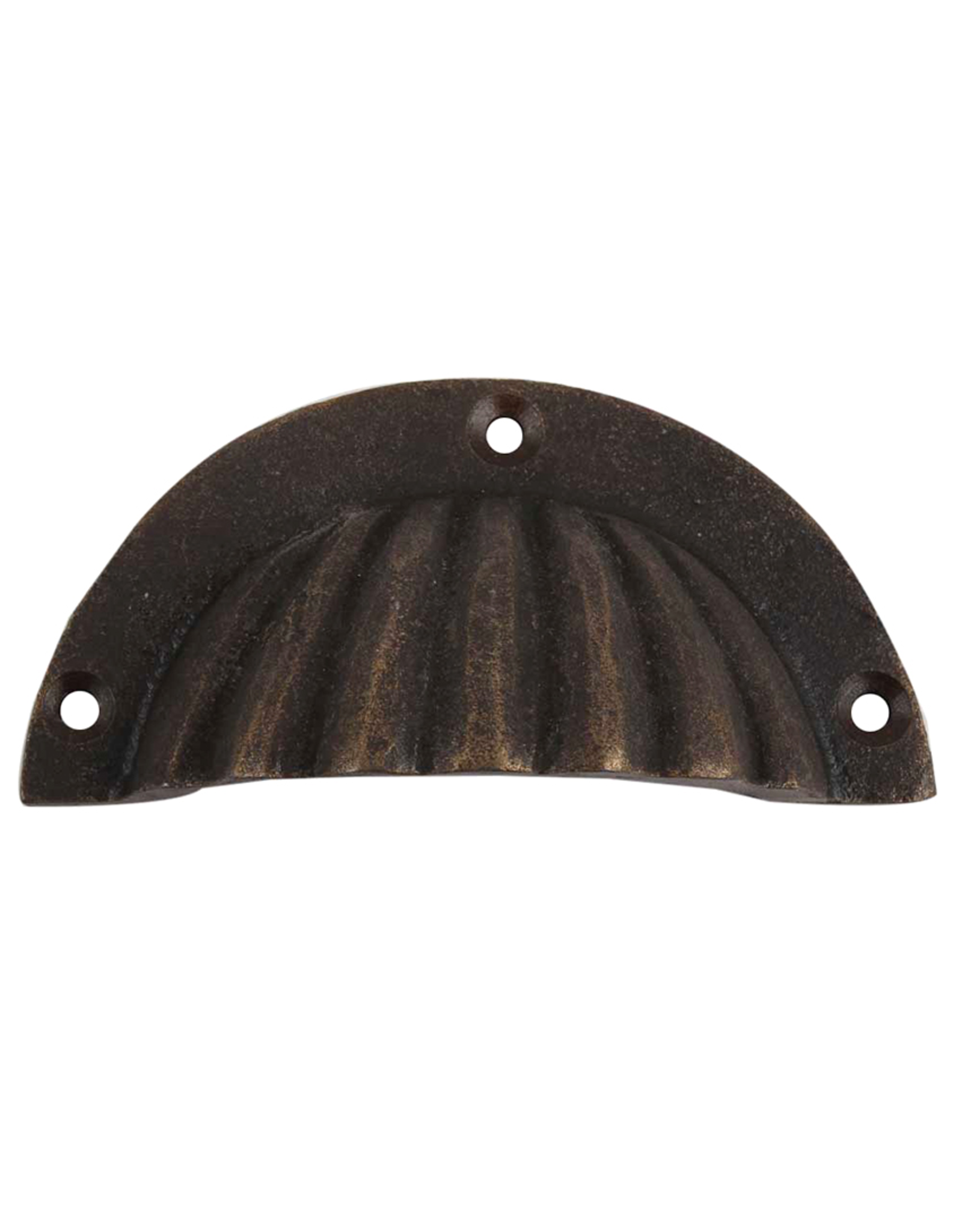 Scalloped Pull Cup - Antiqued Bronze