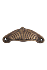 Fluted Victorain Pull Cup - Antiqued Brass