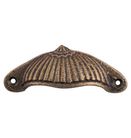 New Fluted Victorain Pull Cup - Antiqued Brass