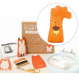 Handmade Embroidery Starter Kit - Squirrel