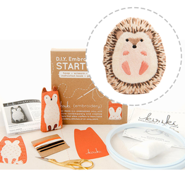 Handmade Embroidery Starter Kit - Hedgehog